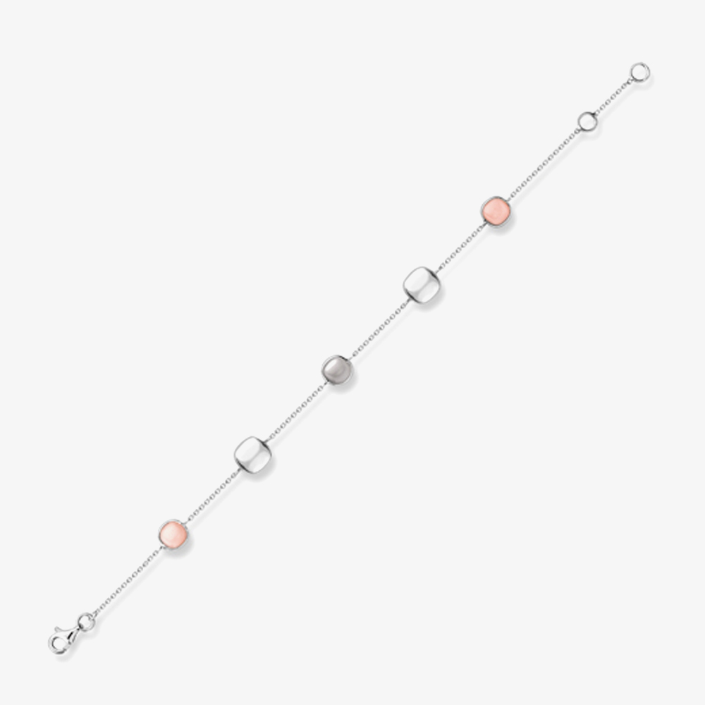 9ct 3 Colour 3 Strand 7.5 Inch Bracelet 3.29.4032